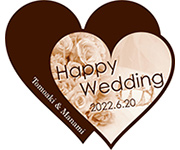 Happy wedding ハート
